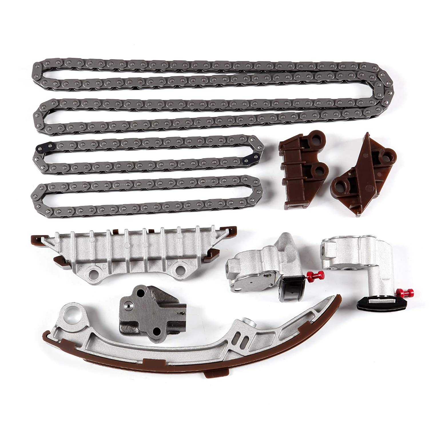 SCITOO TK632 Timing Chain Kit Tensioner Guide Rail fits for 95-01 Nissan Maxima Infiniti I30 DOHC VQ30DE