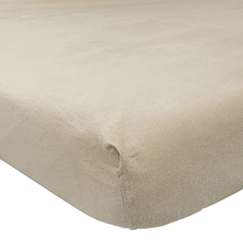 Homescapes   Drap Housse Beige en Flanelle Grand Bon180 g/m²