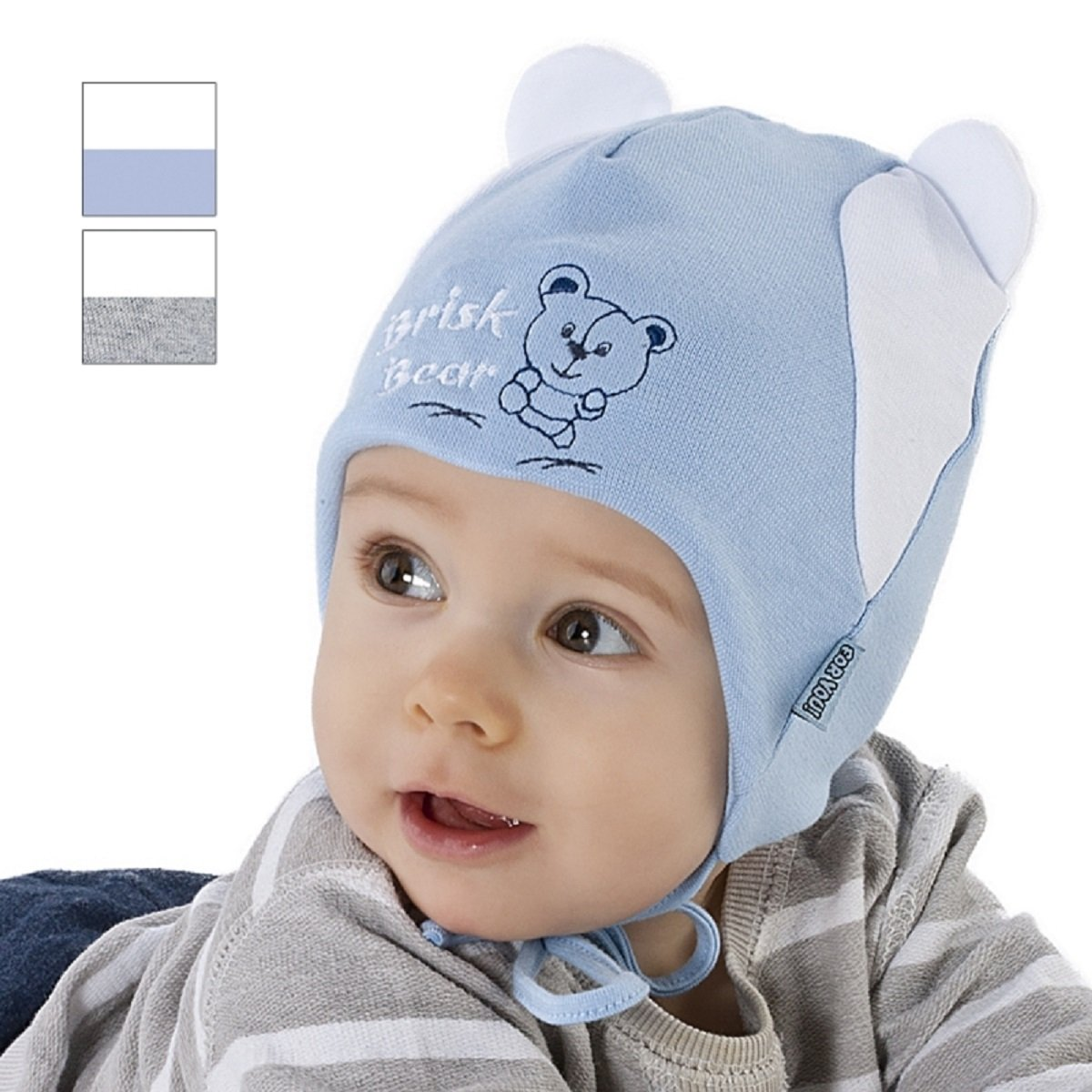New Baby Boy Hat Boys Spring Autumn Peak Cap Christening Baptism Hat 0-12 mths 0-2 Months 38cm, White