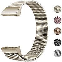 Defurhome Ersatzarmbänder Kompatibel für Fitbit Charge 3,Milanese Loop Edelstahl Verstellbare Ersatz Armbänder mit Magnetverschluss für Fitbit Charge 3