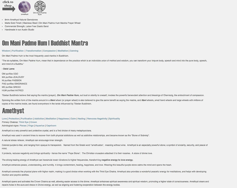 Amazon com: Tibetan Buddhist | OM MANI PADME HUM Natural