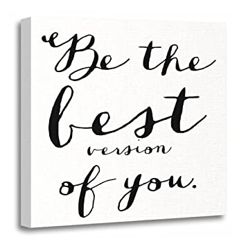 amazon torass canvas wall art print quotes be the best of quote 20 X 20 Wall Decor torass canvas wall art print quotes be the best of quote sayings artwork for home decor