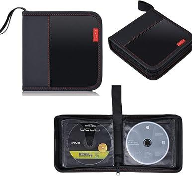 Pochette /à Glissi/ère Couleur Unie Ronde en Tissu Oxford Voiture Sac De Rangement pour CD Sac De Rangement pour CD 20 Disques