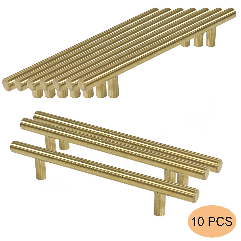 probrico Gold Edelstahl Küche Schrank T Bar Tür Griff Durchmesser 12 ...