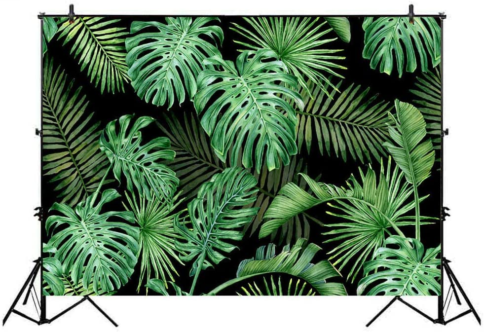 rain Forest Plant Leaf Pattern Photographic Background Cloth Plant Series