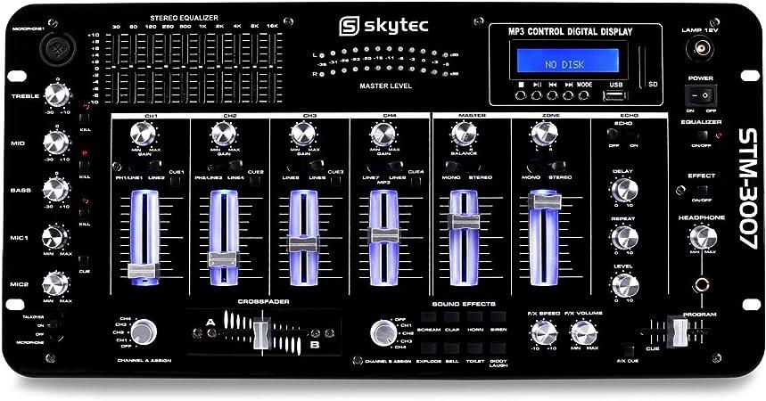 Skytec STM-3007 - Mesa de Mezclas 6 Canales Bluetooth USB: Amazon ...