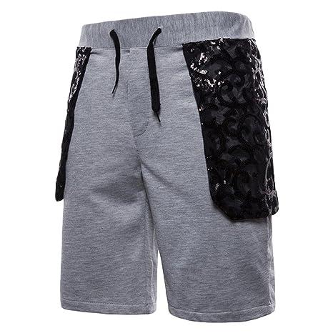 LuckyGirls Pantalones Hombres Color de Hechizo Patchwork Originales  Pantalón Slim Fit Casuales Jogger Gimnasio Suelto Playa 6afb1570bd528