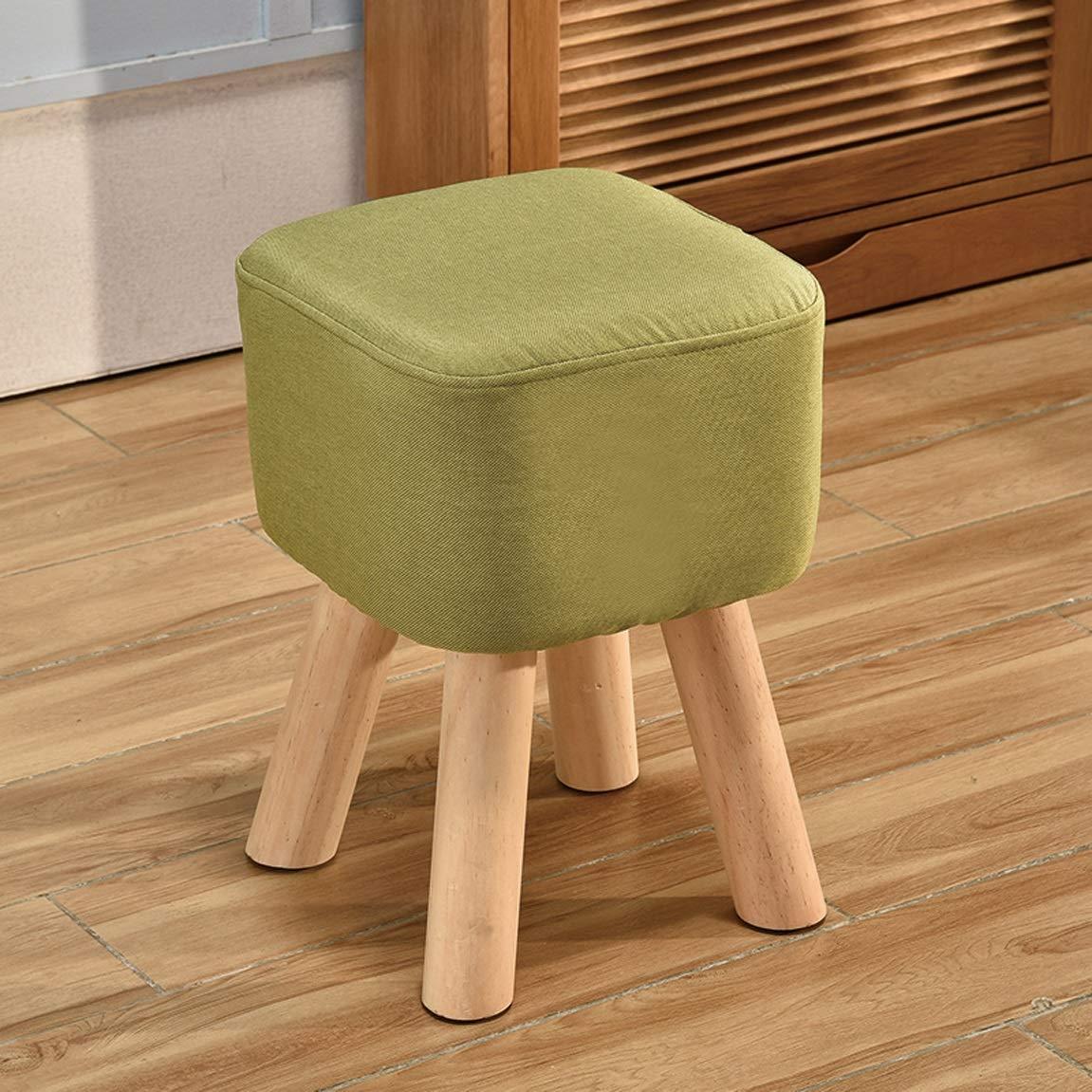 HZB Home Sgabello Piccolo Creative Living Room Shoes Sgabello Fashion Square Sgabello Sofa Sofa Sgabello Bench (Color : Green)