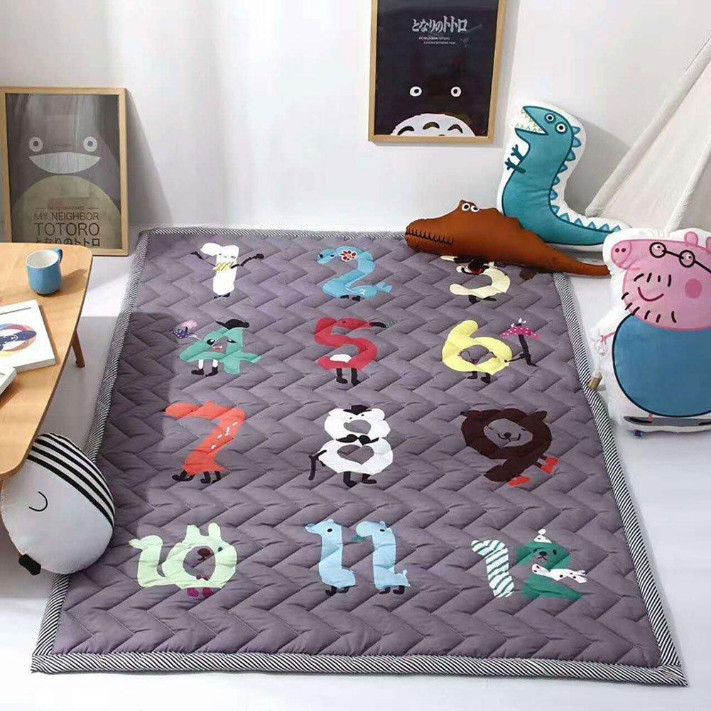 YOHA Baby Boys Play Mat Infant Thick Crawling Mat Rug Cute Kids Girls Playing Blanket Carpet Non-Slip Nursery Rugs Décor, Deer pmat25deer