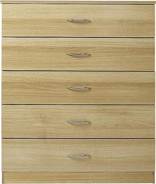 meuble de chambre /à coucher noir Laura James commode 5/tiroirs