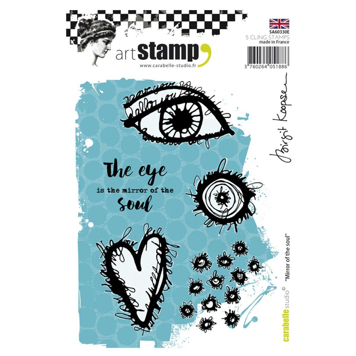 Carabelle Studio Mirror of The Soul Cling Stamp A6 by Birgit Koopsen