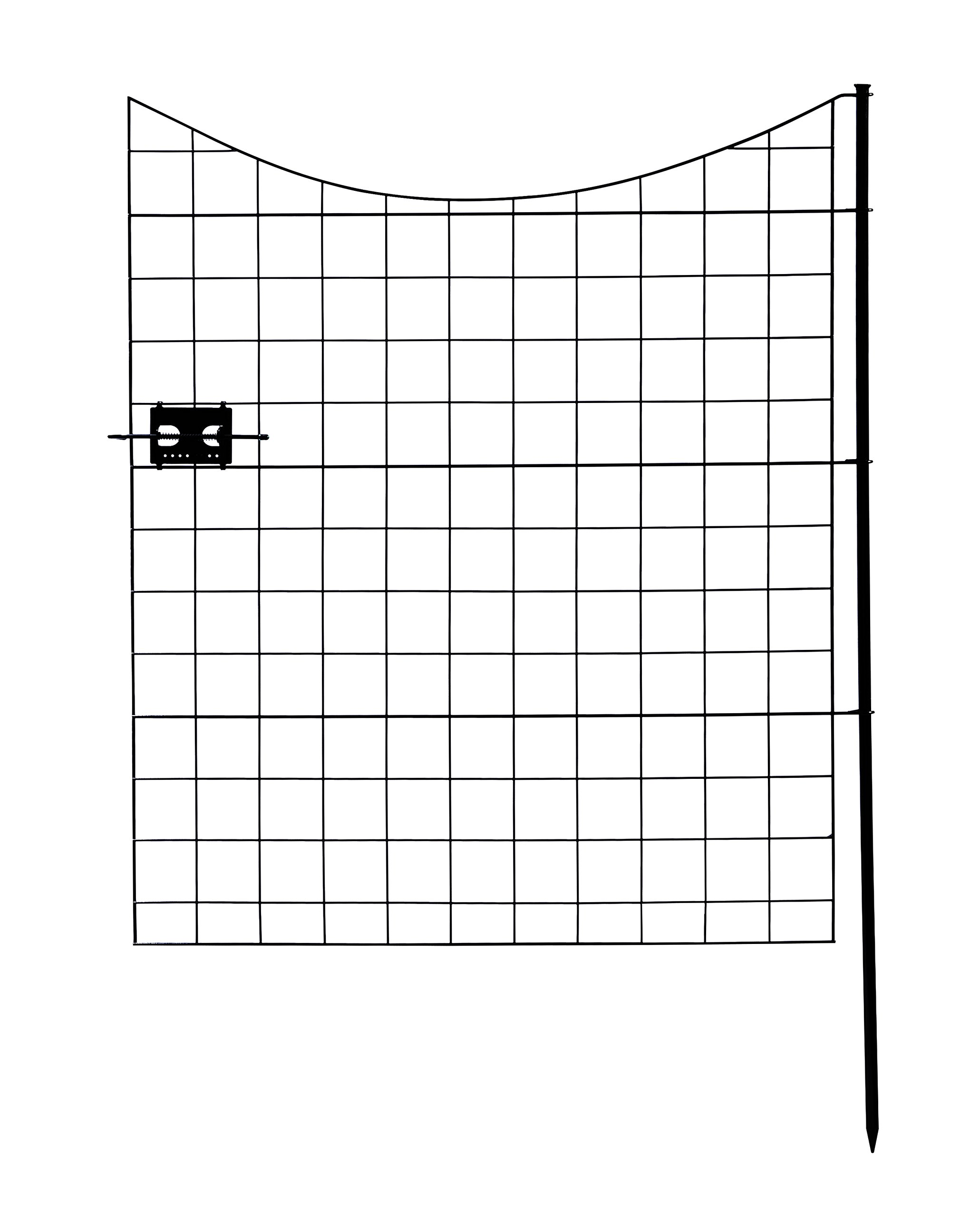 Zippity Outdoor Products WF29012 Black Metal Gate, 41'', by Zippity Outdoor Products