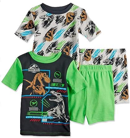New Listing Boys dinosaur Short-sleeved shorts pajamas set cotton nightwear home