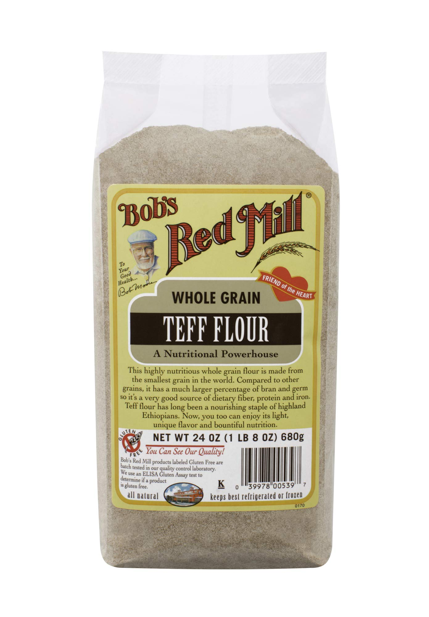 Bob's Red Mill Teff Flour, 24 Oz (4 Pack) by Bob's Red Mill