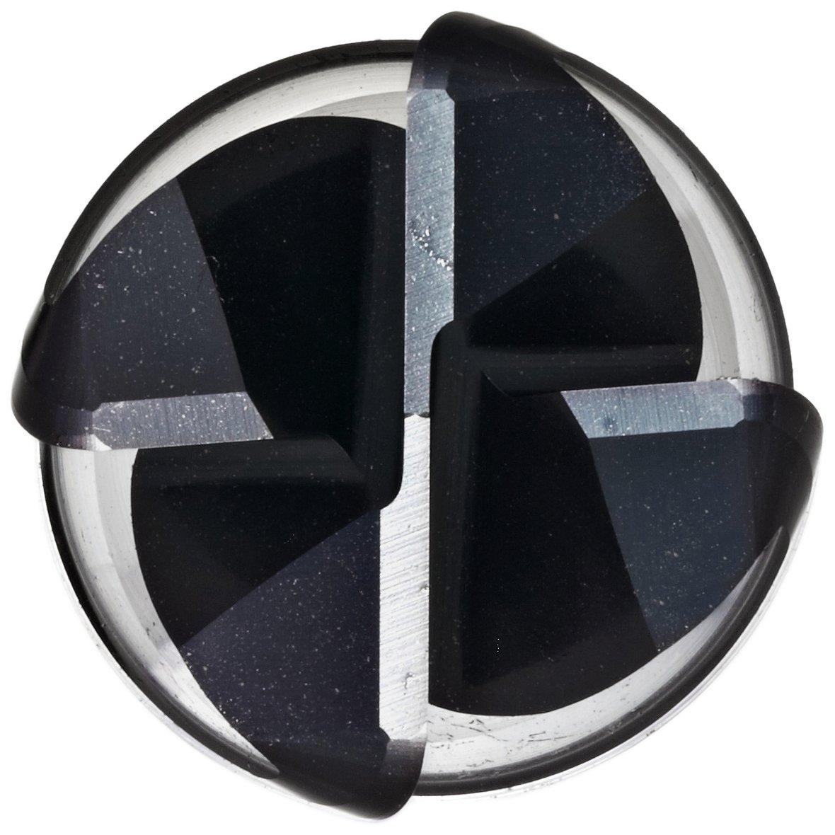 0.4375 Shank Diameter Guhring 3876 RF 100 Ti Carbide Corner Radius End Mill 4 Flutes Finishing Cut Vibration Resistant 0.4375 Cutting Diameter 2.75 Overall Length 35 Deg Helix AlTiN Monolayer Finish 0.031 Corner Radius
