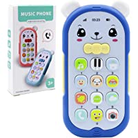 Lohoee Baby Teething Multi-Functional Music Cell Phone Toy for Toddlers Girls or Boys Early Learning Educational and…