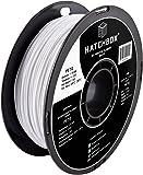HATCHBOX PETG 3D Printer Filament, Dimensional Accuracy +/- 0.05 mm, 1 kg Spool, 1.75 mm, White