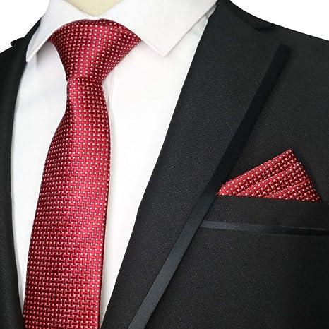 WOXHY Corbata de los Hombres Nuevo Conjunto de Corbata roja Floral ...