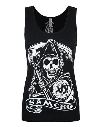 864fec09 Official Sons Of Anarchy Samcro Women's Vest (XXL) at Amazon Women's ...