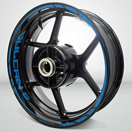 Amazoncom Matte Blue Motorcycle Rim Wheel Decal Accessory Sticker