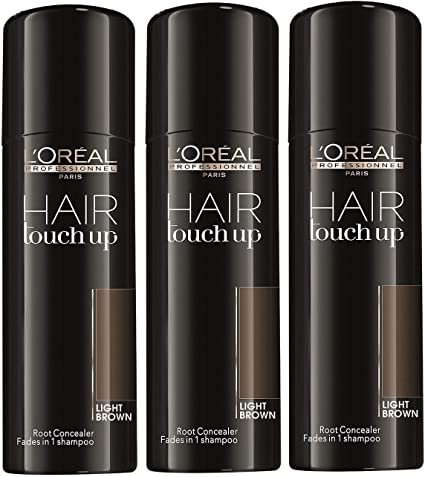 LOreal Hair Touch Up Light brown 75ml kit 3 pcs: Amazon.es ...
