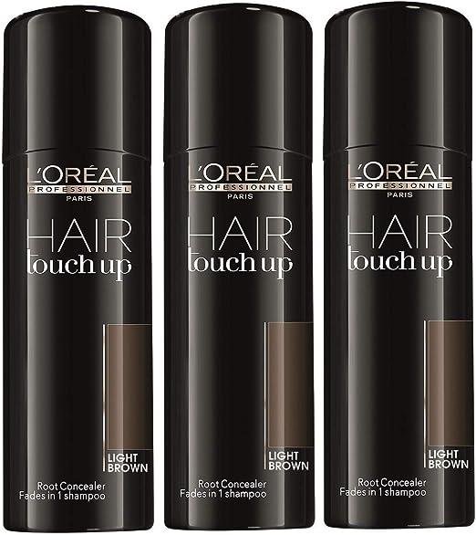 LOreal Hair Touch Up Light brown 75ml kit 3 pcs