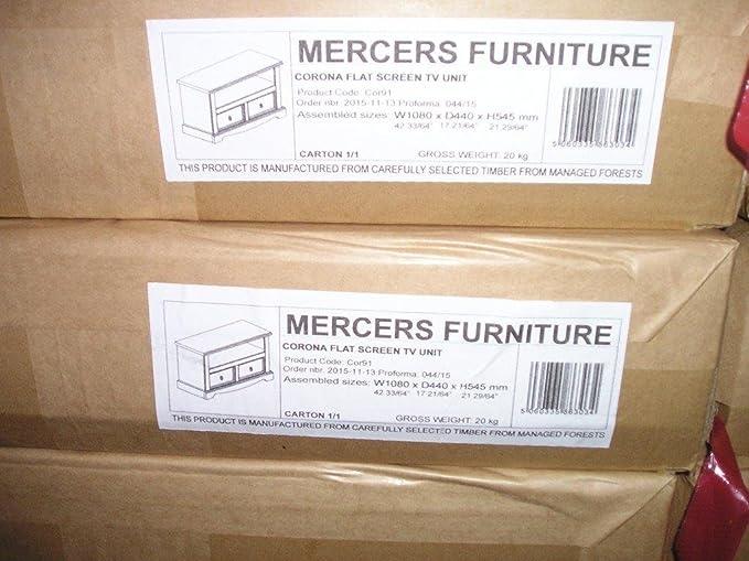 Mercers Furniture Corona 2 Drawer Flat Screen TV Unit Pine Amazon