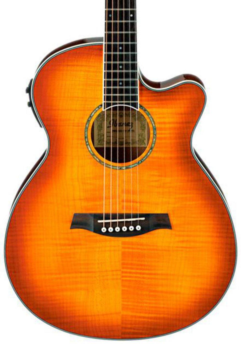 Ibanez AEG20II Flamed Sycamore Top Cutaway Acoustic-Electric Guitar Vintage Violin