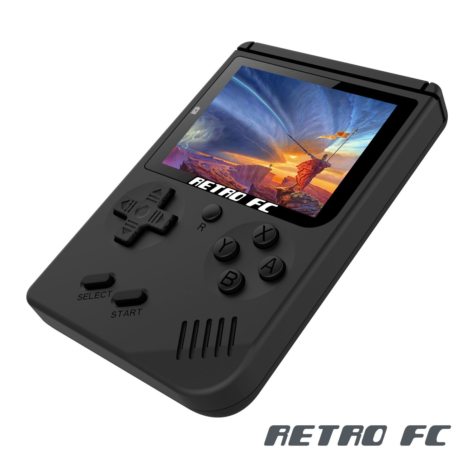 Anbernic Handheld Game Console, Game Console 3 Inch 168 Games Retro FC Game Player Classic Game Console 1 USB Charge, Birthday Presents for Children - Black
