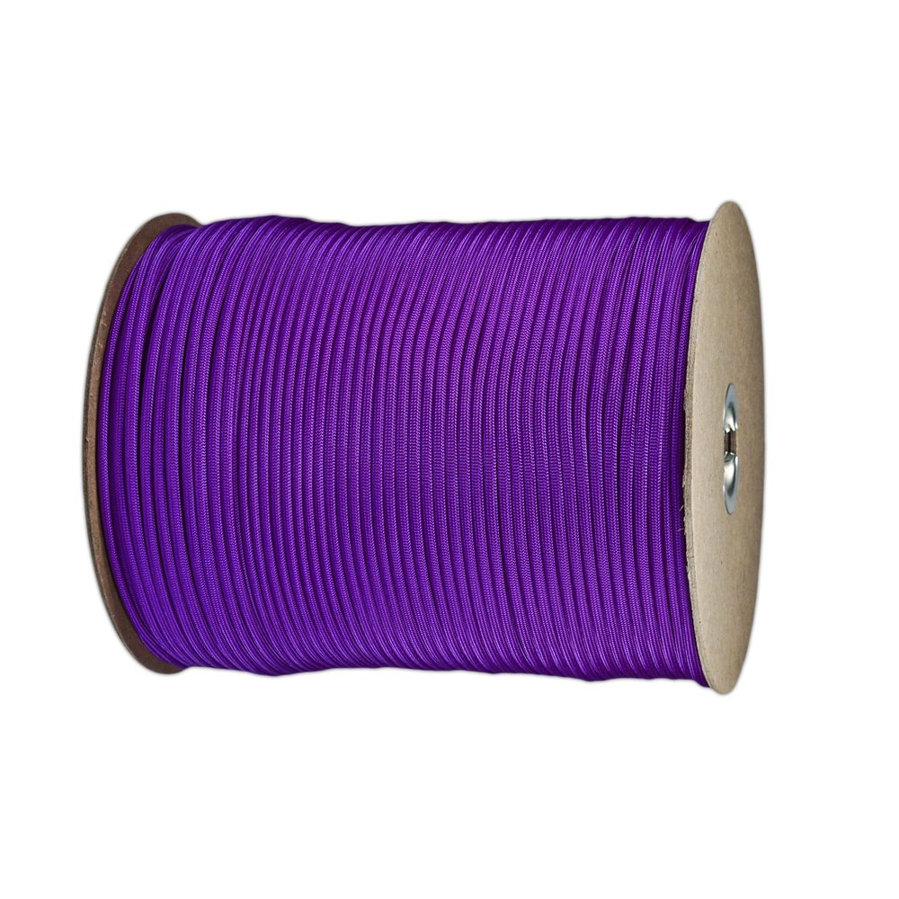 Paracord Planet Nylon 7 Type III Strand Inner Core Paracord - 100 Feet, Acid Purple