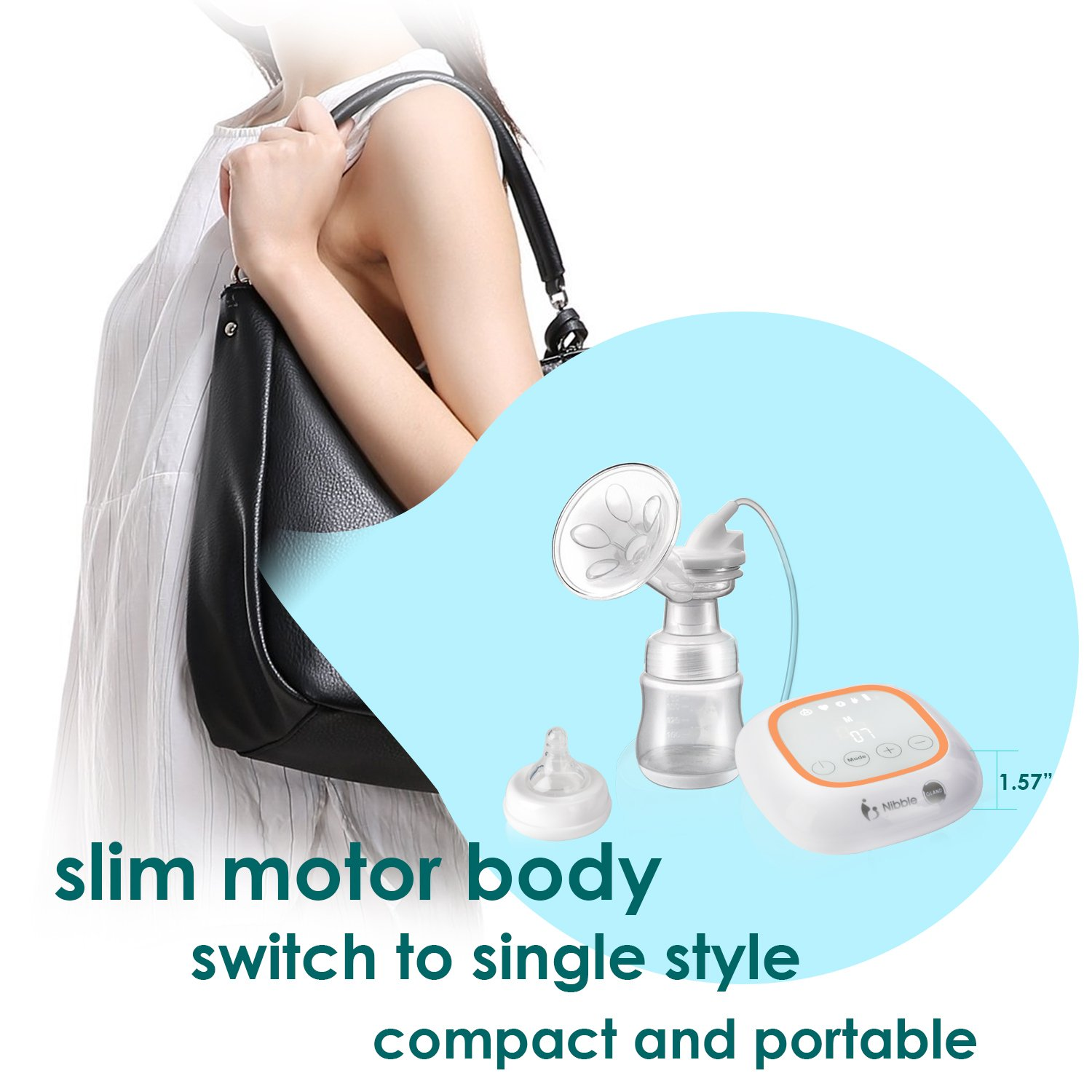 Gland Rechargeable Breastfeeding Pump with Big LCD Touch Screen Electric Breast Pump
