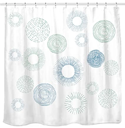 Amazon Sunlit Design Water Repellent Fabric Shower Curtain With