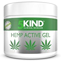 Hemp Joint & Muscle Active Relief Gel- High Strength Soothing Cannabis Oil Formula Rich in Natural Extracts by 5kind. Soothe Feet, Knees, Back, Shoulders (300ml)