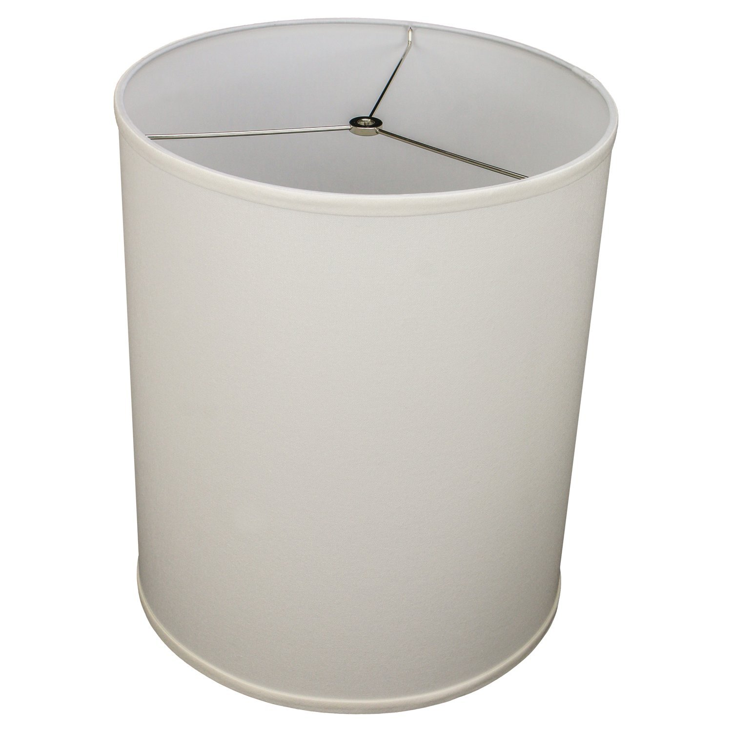 FenchelShades.com 14'' Top Diameter x 14'' Bottom Diameter 17'' Height Cylinder Drum Lampshade USA Made (Cream)