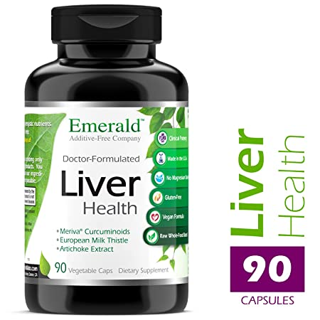 Liver Health – with Silymarin Milk Thistle Meriva Phytosome – Promotes Liver Health, Weight Management, Cleanse – Emerald Laboratories – 90 Vegetable Capsules
