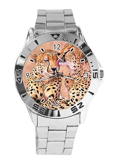 Reloj de Pulsera analógico con Estampado de Animales, Cuarzo ...