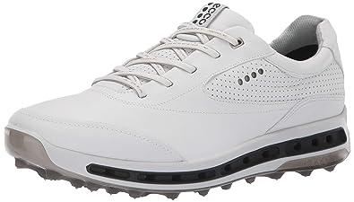 ddaba1bc4a2e ECCO Men s Cool Pro Gore-TEX Golf Shoe White Black Transparent 40 M