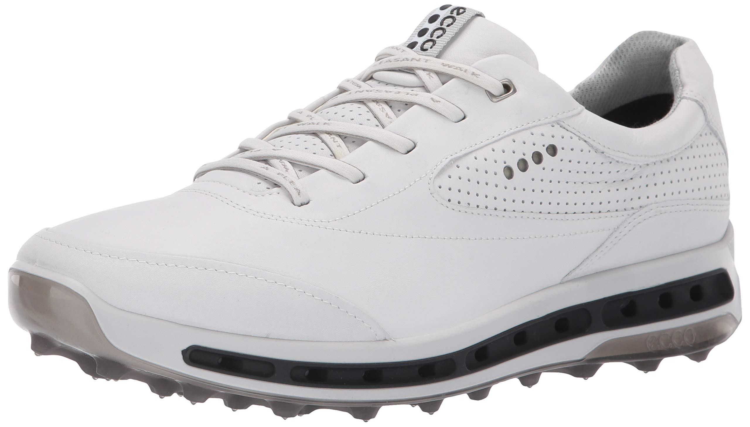 ECCO Men's Cool Pro Gore-TEX Golf Shoe, White/Black/Transparent, 41 M EU (7-7.5 US)