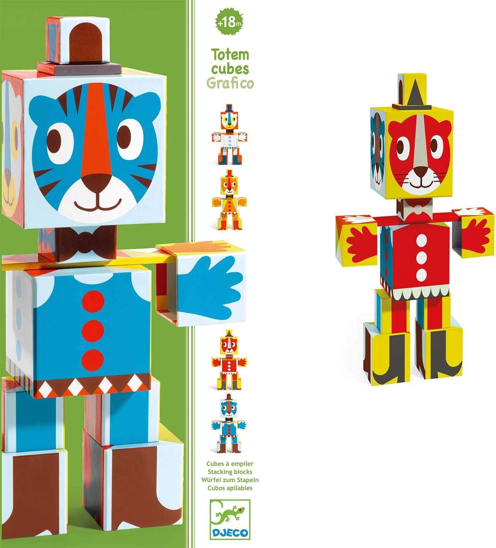 Djeco - Primera Edad Totem Cubos Grafico: Amazon.es: Juguetes y juegos