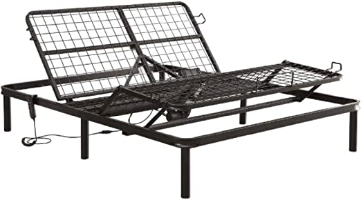 Amazon Com Full Size Sturdy Black Metal Adjustable Bed Base With