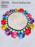 Crochet Pattern Floral Doilies PS012-R