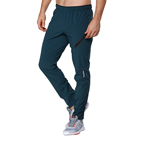 fa53a480ee7154 Reebok One Series Mens Woven Trackster Training Pants M Forest Grey   Amazon.ca  Clothing   Accessories