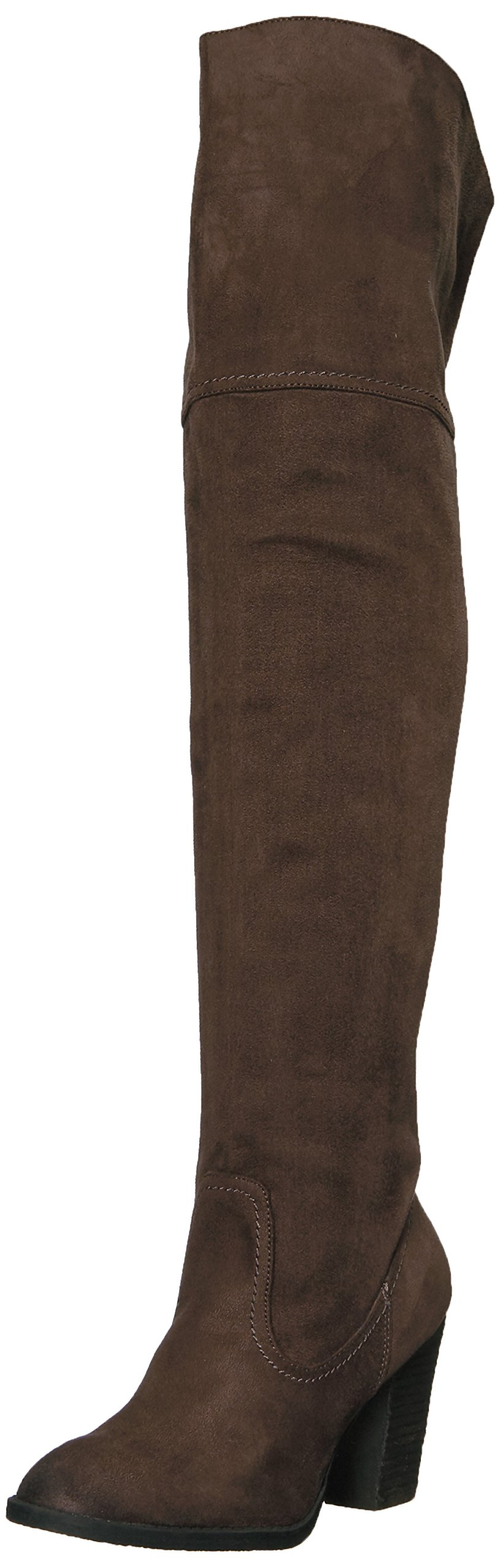 Not Rated Women's Andra Riding Boot, Charcoal, 7.5 M US