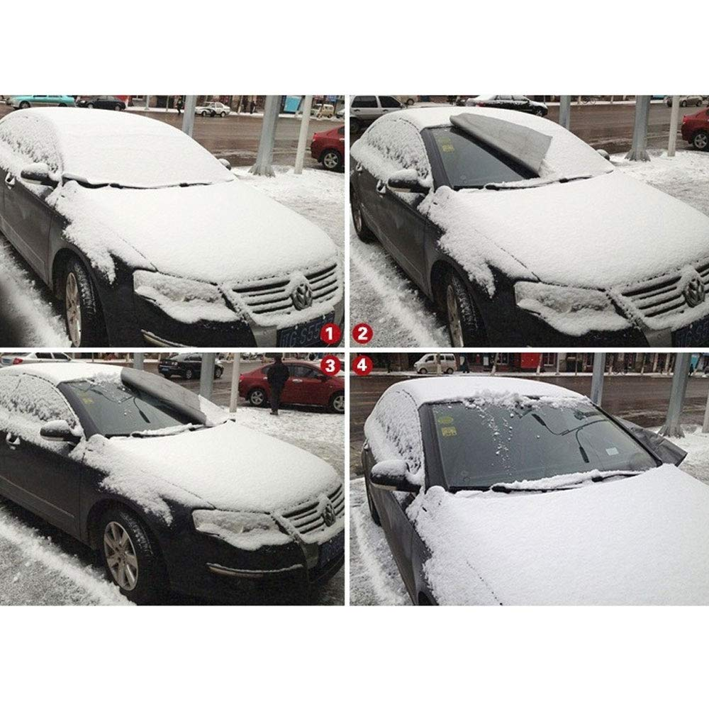 Amazon.es: DINBGUCHI 1 Pieza de Cubierta de Nieve para automóvil, Cubierta de Parabrisas Delantero, protección contra la Nieve Durante el Invierno, ...