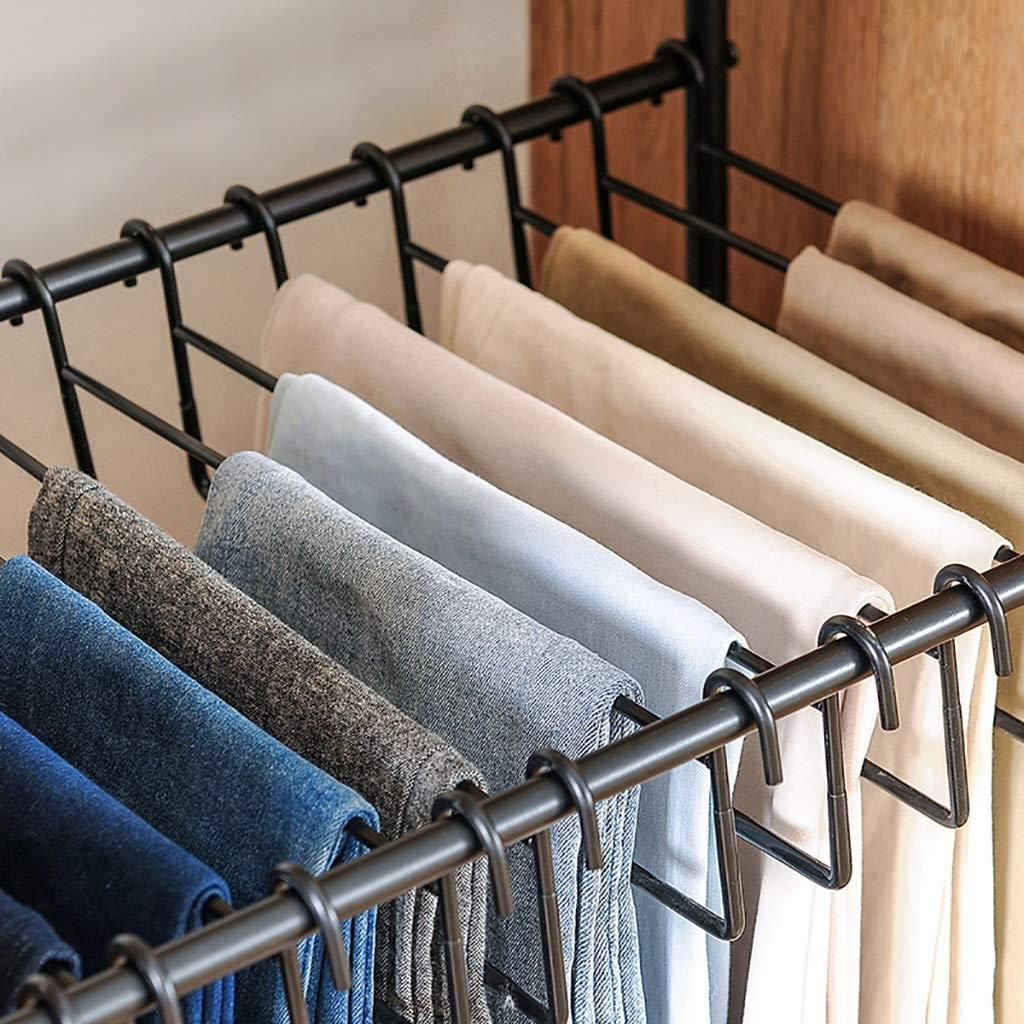 Se Puede Mover Rack Estante for Pantalones Perchas Aterrizaje Arte de Hierro Color : White 60.5cm * 35cm * 69.5cm Adecuado for el Dormitorio Pantal/ón de Traje Que cuelga Simple