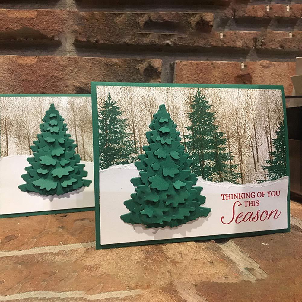Lanbowo /Árbol de Navidad Corte Metal Troqueles Bricolaje Papel de Scrapbooking Tarjeta Textura Manualidades Decoraci/ón Multifuncional Mu/ñeco