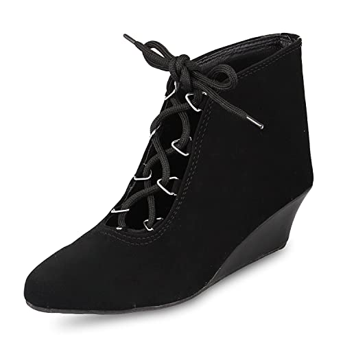 264f153fefb3 Rgk s black velvet shoes for women and girls with Dutch Heel  Buy ...
