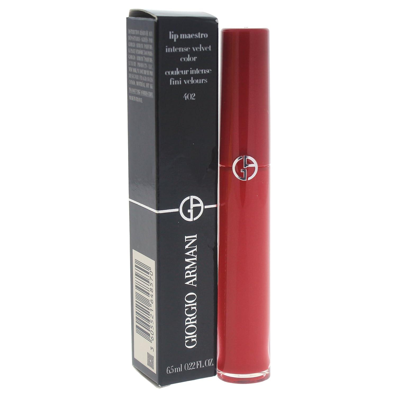 Giorgio Armani Lip Maestro Intense Velvet Color for Women Lip Gloss, Chinese Lacquer, 0.22 Ounce