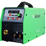 Mig Welders Flux Core 200Amps - Reboot MIG200 Gas and Gasless 220V MIG Stick Lift Tig Welding Machine Inverter 2.2/11Lbs Flux Core Solid Wire Automatic Feed for Mig Stainless Steel Welding (MIG200)
