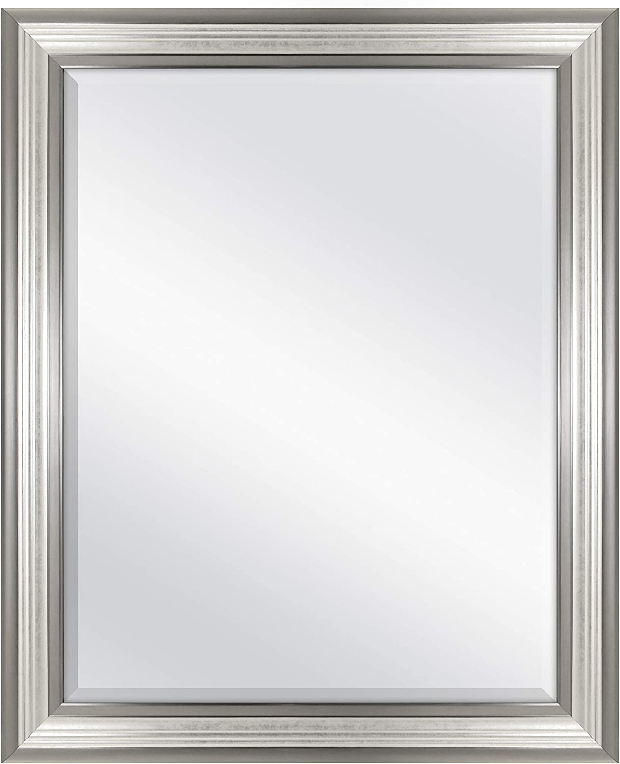 MCS 22x28 Inch Ridged Mirror, 27x33 Inch Overall Size, Silver (20580)